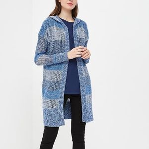 NWOT GAP Longline Open Stitch Hooded Cardigan